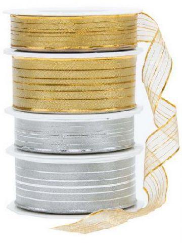 Deko-Bänder Gold und Silber