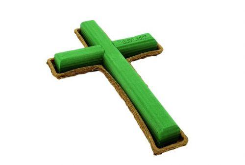 Kreuz mit Nass-Steckmoos, 40 cm