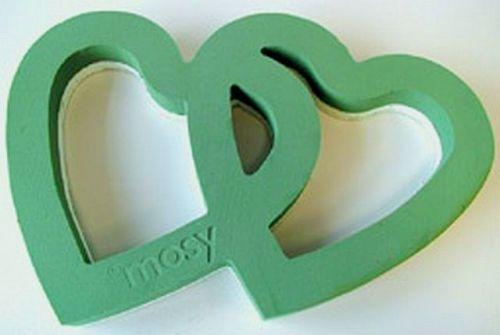 Doppel-Herz, offen, 58 cm Grabgesteck basteln