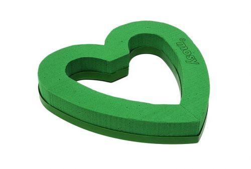 Steckschaum Herz , offen, Wassersp.,Durchm. 21 cm