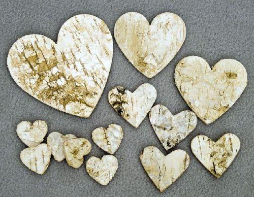 Birken-Herzen, 2,5 cm, 220 Stck