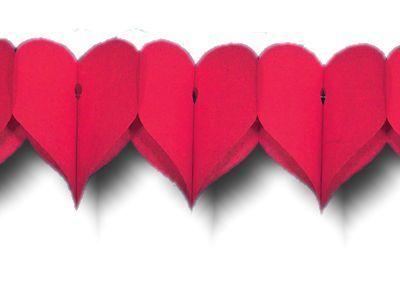 Herzen-Girlanden , rot, 360 cm