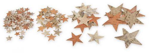 Birken-Sterne zum Streuen, 4,5  cm, 100 Stck