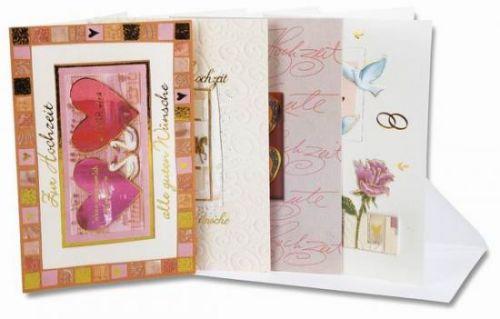 Karten Hochzeit, (Glückwunsch-Karten) 20 Stck