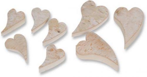 Birken-Herz, geschwungen, 9 cm, 6 Stck