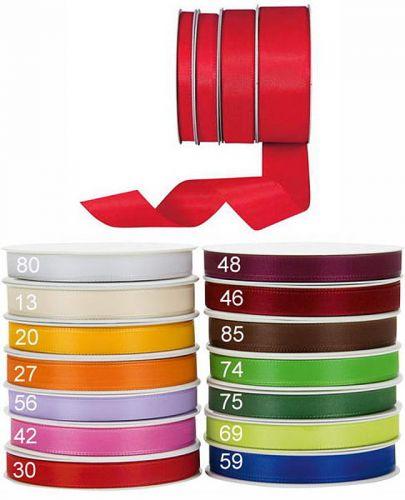 Taftbänder, 25 mm, ohne Drahtkante, 50 m