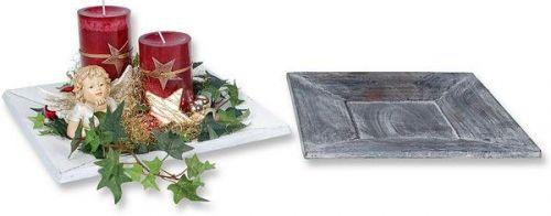 Holzplatte für Adventsgestecke