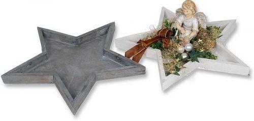 Holz-Stern-Tablett, 40 cm