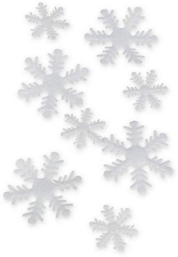 Schneeflocke aus Stoff, 50 Stck