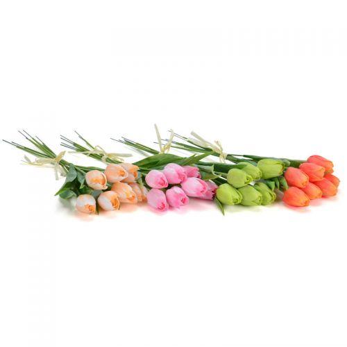 Tulpen im Bund künstlich, 42 cm,  7 Stück