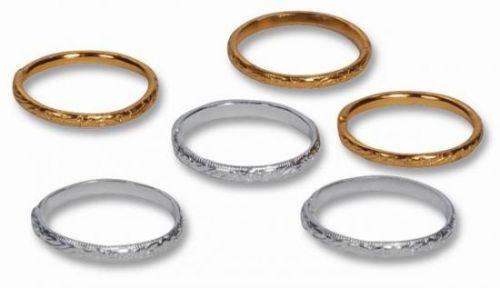 Silberhochzeit / Goldene Hochzeit : Deko-Eheringe