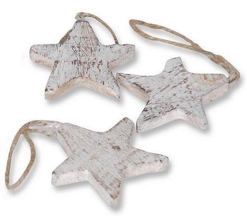 Stern aus Holz, 10 Stck