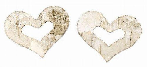 Birken-Herzen, offen, 5 cm, 50 Stück