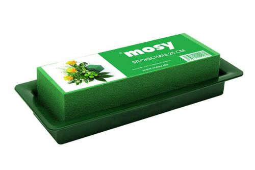 Blumengesteck-Schale, grün, 33 cm, Steckmasse