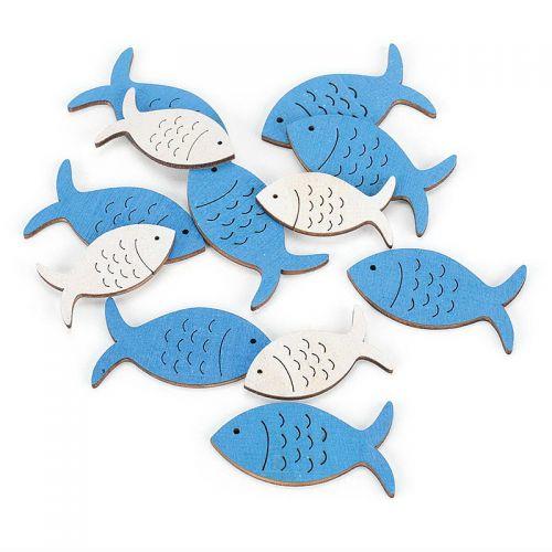 Fische aus Holz - Kommunion, 12 Stck