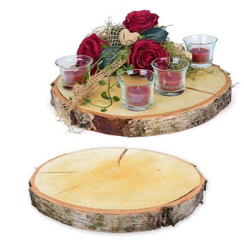Holzscheibe aus Birke, 25-30 cm
