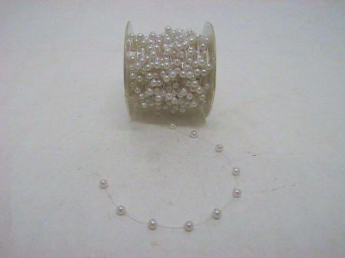 Perlenkette, weiß, 6 mm, 15 m