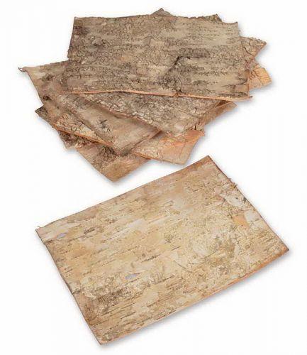 Platten aus Birkenrinde, 20 Stück