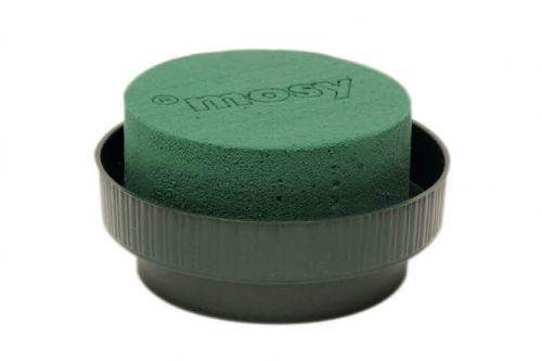 Runder Steckmasse-Zylinder in Schale, 10 cm