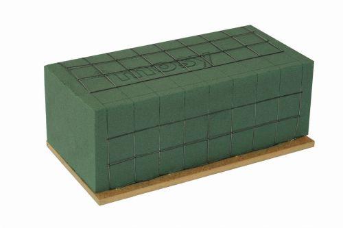 Steckmasse - Ziegel m. Drahtgitter, Griffkante + Holzboden, 23 cm