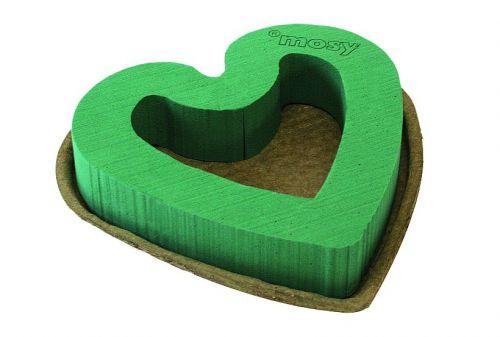 Steckmoos-Herz, 35 cm, offen, Papierunterlage