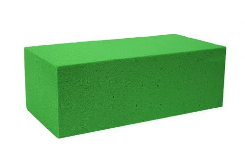 Steckschaum - Quadrat, 10 x 10 x 4,5 cm,  2 Stück