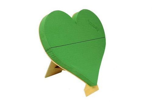 Steckschwamm-Herz mit Ständer, 50 cm