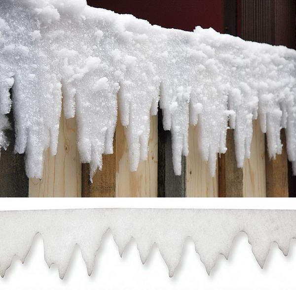 Eiszapfengirlande f r den winter schneevlies g nstig kaufen - Winterlandschaft dekoration ...