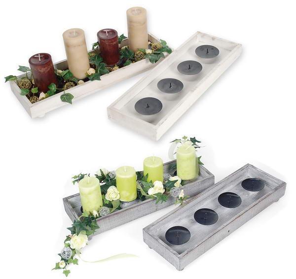 Holz Kerzen Teller Fur Adventsgestecke