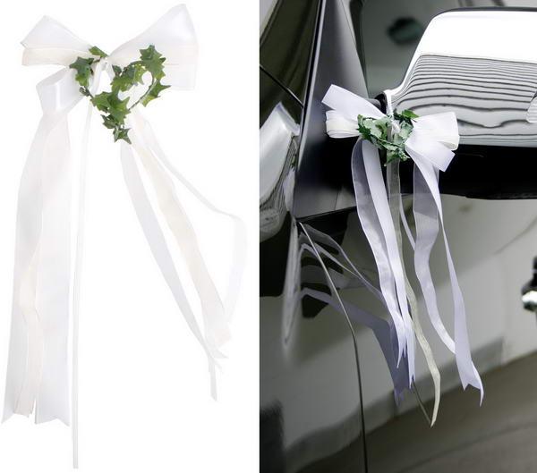 Autodekoration Hochzeit Blumen Autoschmuck Mit Autoherzen Selber