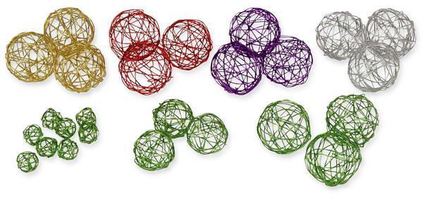 drahtkugeln für die tisch-dekoration, Garten ideen