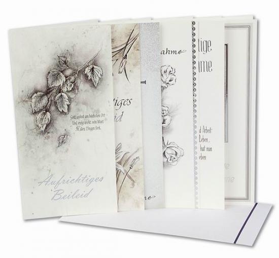 Beileidswunsche Fur Karten: Beileidskarte (Trauer-Karte), 10 STck