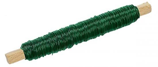 Wickeldraht grün lackiert zum Basteln.