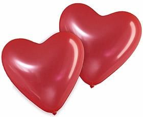 Roter Herz-Luftballon, 12 cm, 100 STck