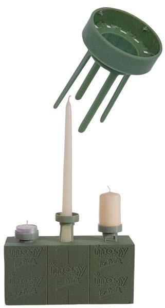 kerzen halter floristenbedarf 4 stck kerzenstecker. Black Bedroom Furniture Sets. Home Design Ideas