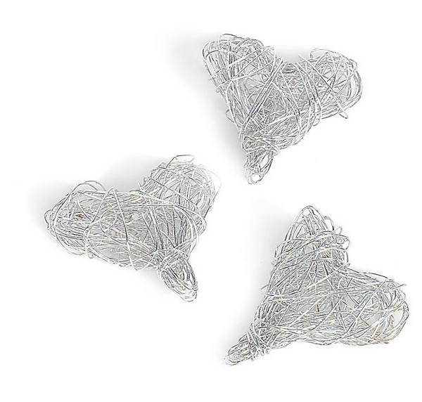 Herzen aus Draht, 10 Stck