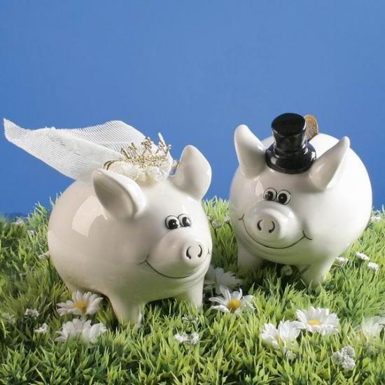 Sparschein Hochzeit, 2 Stck, Hochzeit-Dekoration