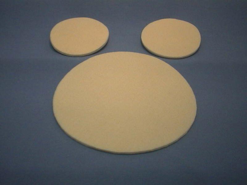Filzunterlage, rund, creme, 10 cm, 2 Stck