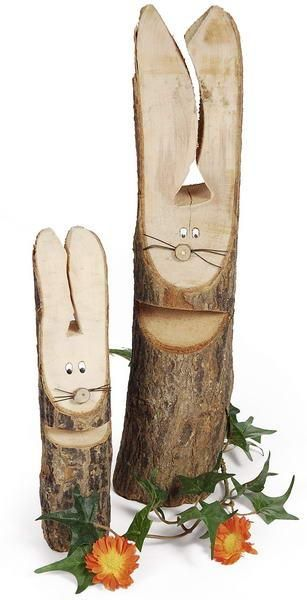 116 0900 037 holz hase 20 cm natur osterdeko ebay. Black Bedroom Furniture Sets. Home Design Ideas