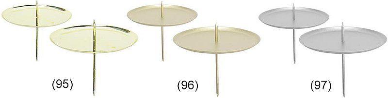 Kerzenhalter, 7,5 cm, 4 Stück, gold-matt