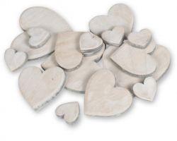 Herzen aus Holz, 15 Stck