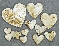 Herzen aus Birke 6 cm, 30 Stck