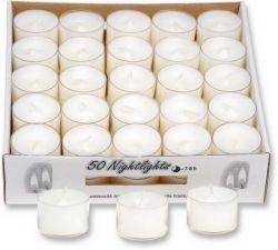 Teelichter in transparenter Hülle, 50 Stck