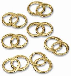 Eheringe, gold, 60 Stck, Deko Goldene Hochzeit