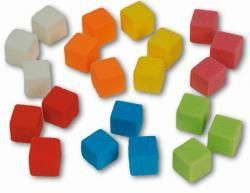 Steckschaum-Würfel, 2x2x2 cm, 6-Farben-Mix, 75 ST