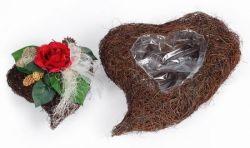 Reben-Herz zur Bepflanzung, 41 cm