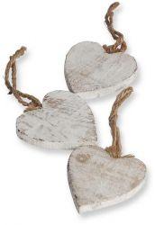Herzen aus Holz, 10 Stck