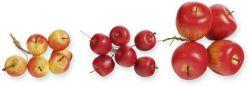 Apfel am Draht, 2 cm, 12 Stck, Adventskranz