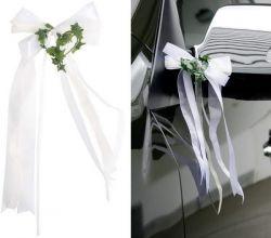 Autoschleifen Hochzeit basteln , 2 Stck
