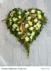 Blumen-Steckschwamm-Herz, 40 cm, m. STAENDER